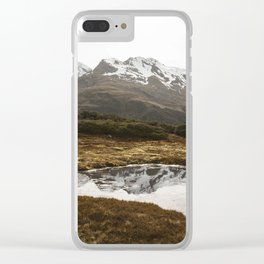 Mountain Tarn Clear iPhone Case