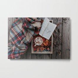 Marshmallows, Hot Chocolate, Autumn Metal Print