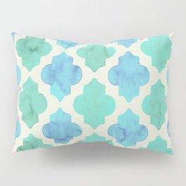Quatrefoil pattern in pastel colours Pillow Sham