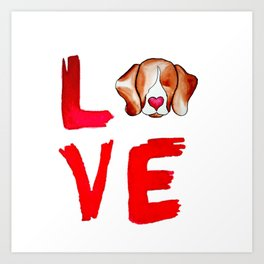 Love Beagles Art Print