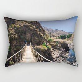 Hot Springs & Bridge Rectangular Pillow