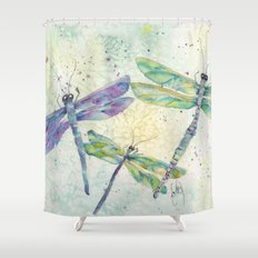 Xena's Dragonfly Shower Curtain