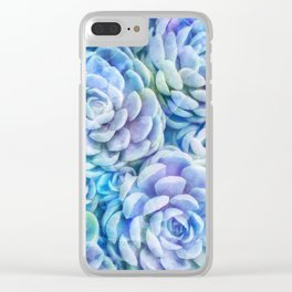 Rainbow succulents Clear iPhone Case