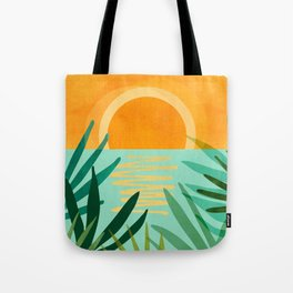 Peaceful Tropics / Sunset Landscape Tote Bag