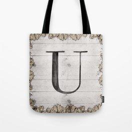 Neutral Monogram U Tote Bag