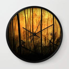 Fire Forest Wall Clock