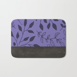 Leather and (purple) Florals Bath Mat
