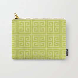 Lime Greek Key Pattern Carry-All Pouch