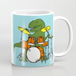 T-Rex Drummer Coffee Mug
