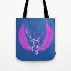 Winged Pink Deer Tote Bag