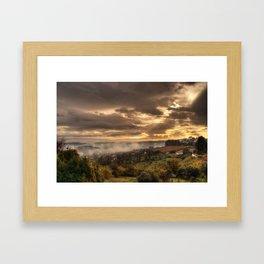 Valley Of Fog Framed Art Print