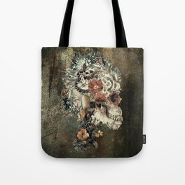 Skull on old grunge Tote Bag