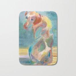 Dog in Shadow Bath Mat