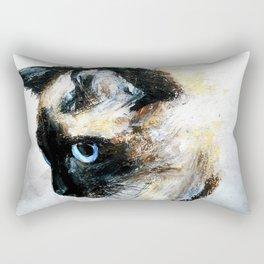 Siamese Cat Acrylic Painting Rectangular Pillow