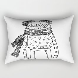 Betty in black and white Rectangular Pillow