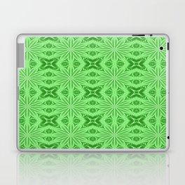 Green Flower Cross Pattern Laptop & iPad Skin