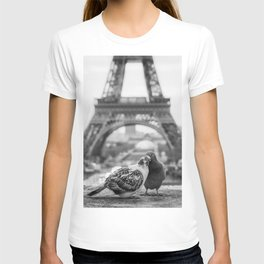 Love Birds (Black and White) T-shirt