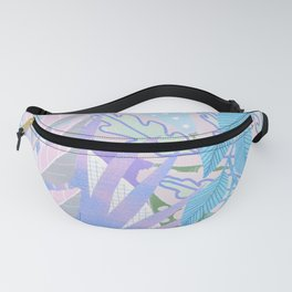 Modern Jungle Plants - Blue, Purple Fanny Pack