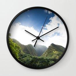 Iao Valley Mist // Horizontal Wall Clock