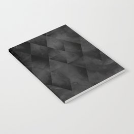 Geometric abstract watercolor pattern in black Notebook