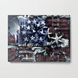 Stars and Bars Metal Print