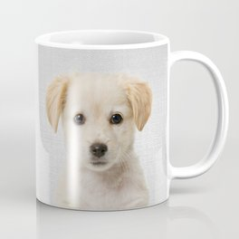 Golden Retriever Puppy - Colorful Coffee Mug