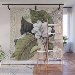 Vintage White Magnolia Wall Mural