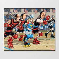 Derby Dazzler Canvas Print