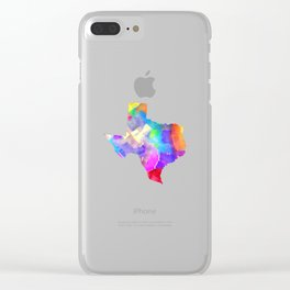 Texas Watercolor Clear iPhone Case