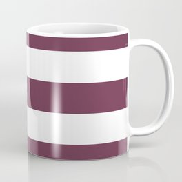 Wine dregs - solid color - white stripes pattern Coffee Mug
