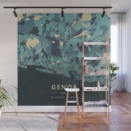 Genoa, Italy - Cream Blue Wall Mural