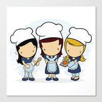cook Canvas Prints featuring Cook by Jaqueline Teixeira