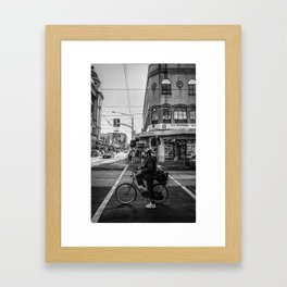 On your mark. (Chapel Street, 2013) Framed Art Print
