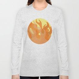 Pastel Flames Long Sleeve T-shirt