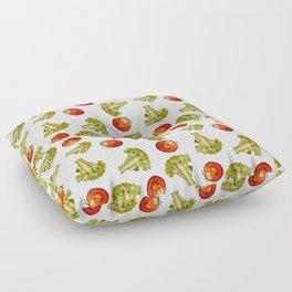 Broccoli and tomato Floor Pillow