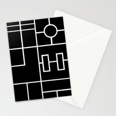 PS Grid Black Stationery Cards