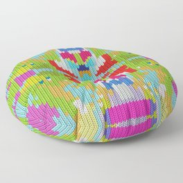 Abstract buterfly Floor Pillow