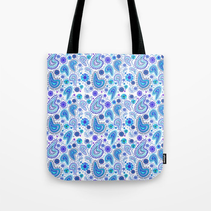 Paisley Power (White Background) Tote Bag