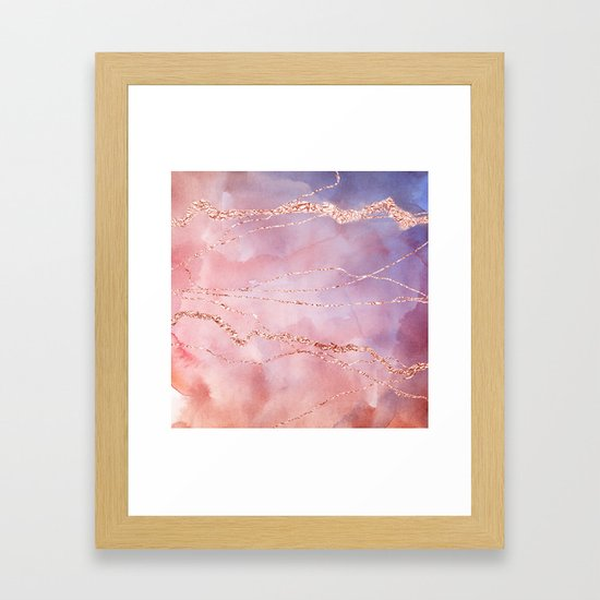 Blush and Purple Sky with Rose gold flashes by originalaufnahme