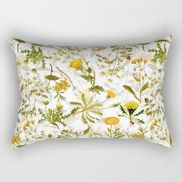 Vintage & Shabby Chic - Yellow Wildflowers Rectangular Pillow