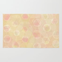 Peachy Keen Hexagons Rug