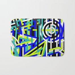 Bright Weaved Geometric Bath Mat