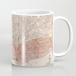 Vintage Railroad Map of Chicago (1871) Coffee Mug