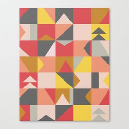 Geometric Pattern in Fun Colors Canvas Print