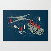 battlestar Canvas Prints featuring You Sunk My Battlestar by Caddywompus