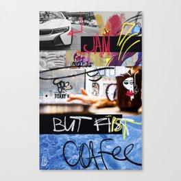 But first coffee - mega jam Canvas Print