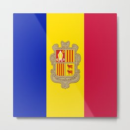 Flag Of Andorra Metal Print