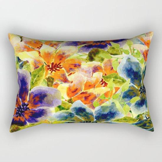 vivid floral Rectangular Pillow