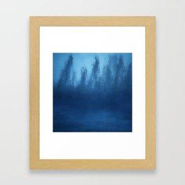Cobalt Blue Ombre Framed Art Print