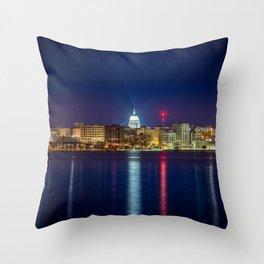 Madison at Night Throw Pillow